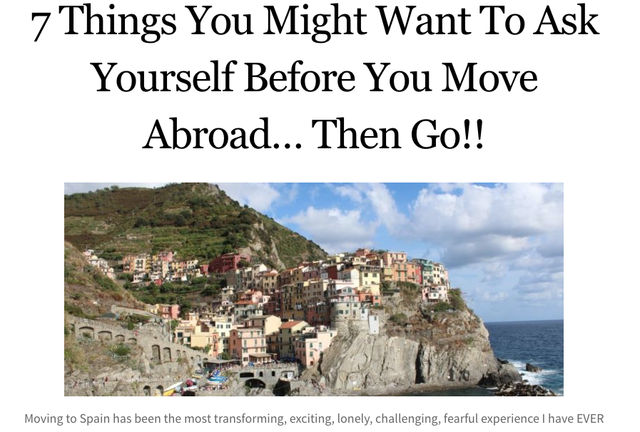 7 things you might want to ask yourself before you move to another country.